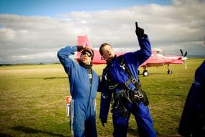 Skydiving in Lake Taupo in New Zealand