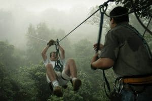 Man on a Zipline Tour