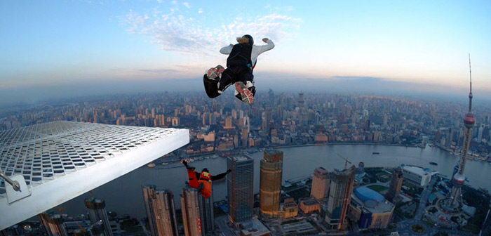 Base Jumping Extremsportart