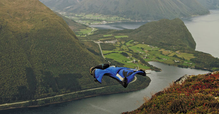 Attention A Life in Extremes Wingsuit Flyer
