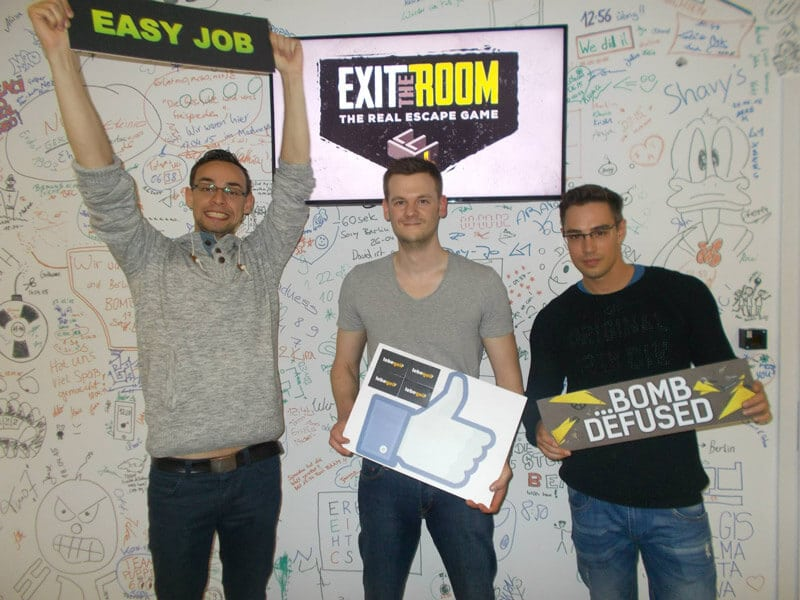 Unser Team bei Exit the Room