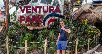 Jan im Ventura Park in Cancun
