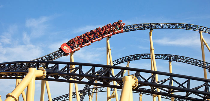 Launch Coaster Heide Park Desert Race