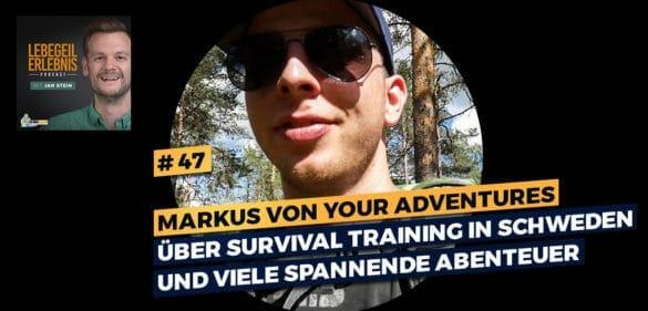 Markus von Your Adventures über Survival Training in Schweden und viele spannende Abenteuer 46