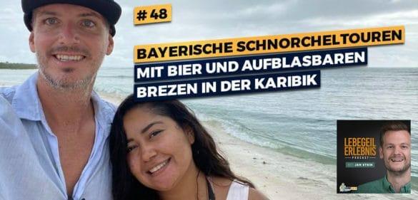 Bayerische Schnorcheltouren mit Bier und aufblasbaren Brezen in der Karibik 48